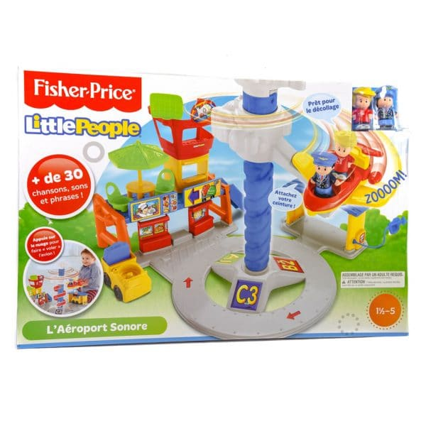 Fisher Price Little People Spinnin Sounds Airport (FRENCH)