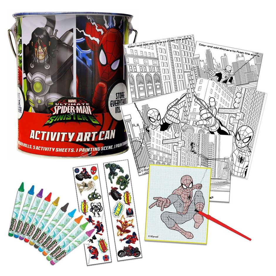 Spiderman Activity Art Can