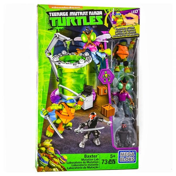 Teenage Mutant Ninja Turtles Mega Bloks Baxter Mutation Lab Playset