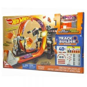 Hot Wheels Track Builder Construction Crash Kit 40 pc