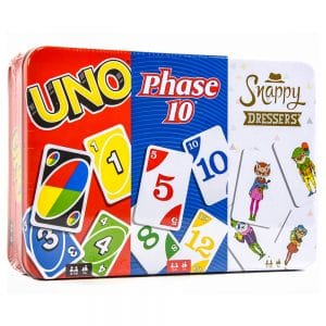 Game Tin (UNO, Phase 10, Snappy Dressers)