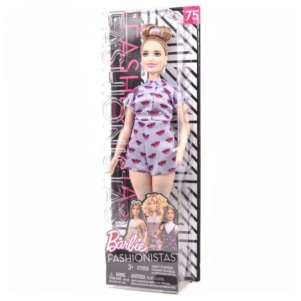 Barbie Fashionistas Curvy Lavendar Kiss Doll