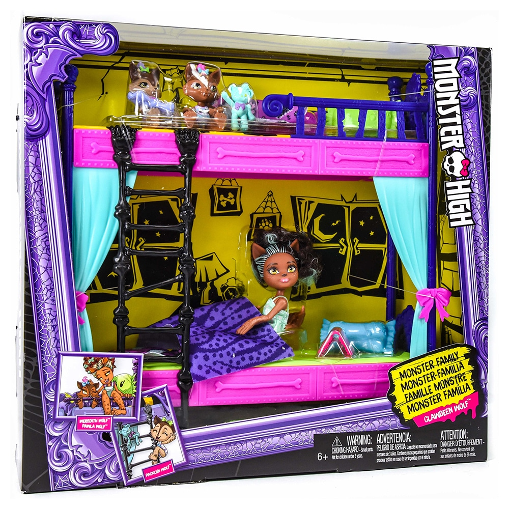 Wolf Family Toy : Monster high family clawdeen wolf bunk bed playset