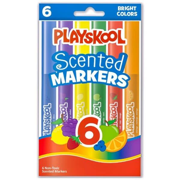 Playskool 6 Scented Washable Broadline Markers