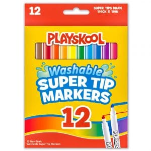 Playskool 12 Washable Super Tip Markers