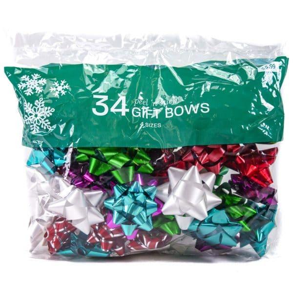 Berwick Gift Bows 34pc. Peel n' Stick 4 Sizes
