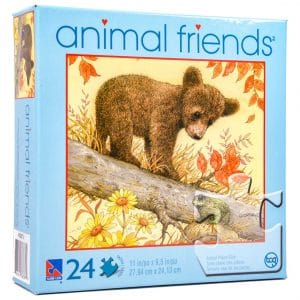 Animal Friends Buddies In Fall 24 Piece Puzzle