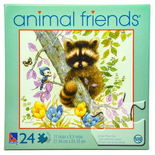Animal Friends Buddies In Tree 24 Piece Puzzle