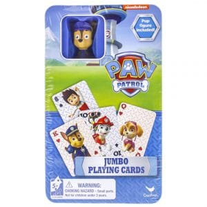 Paw Patrol Nickelodeon's Paw Patrol Jumbo Playing Cards With Figure In Tin