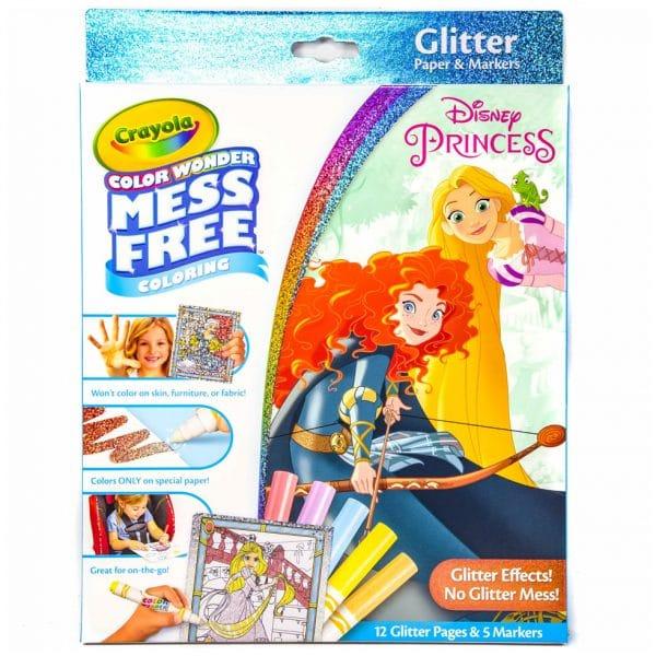 Crayola Color Wonder Glitter Coloring Kit Disney Princess