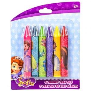 Disney Sofia 6 Chunky Crayons