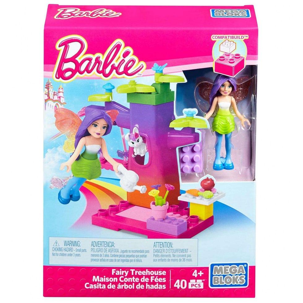 Mega Bloks Barbie Fairy Treehouse Building Set 40 Pcs