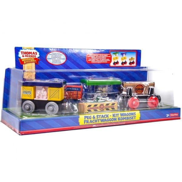 Thomas & Friends Peg & Stack - Kit Wagons