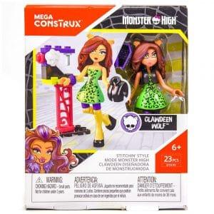 Monster High Mega Construx Miniature Doll Clawdeen Wolf