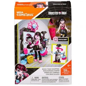 Mega Construx Monster High Boo-Tique Shopping Building Set 59 Pcs