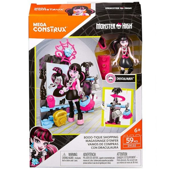 Mega Construx Monster High Boo-Tique Shopping Building Set 59 Pcs