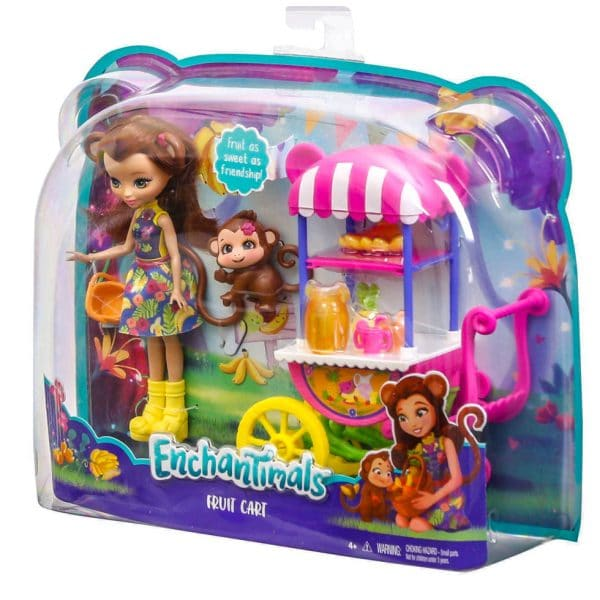 Enchantimals Fruit Cart Stand Doll Set