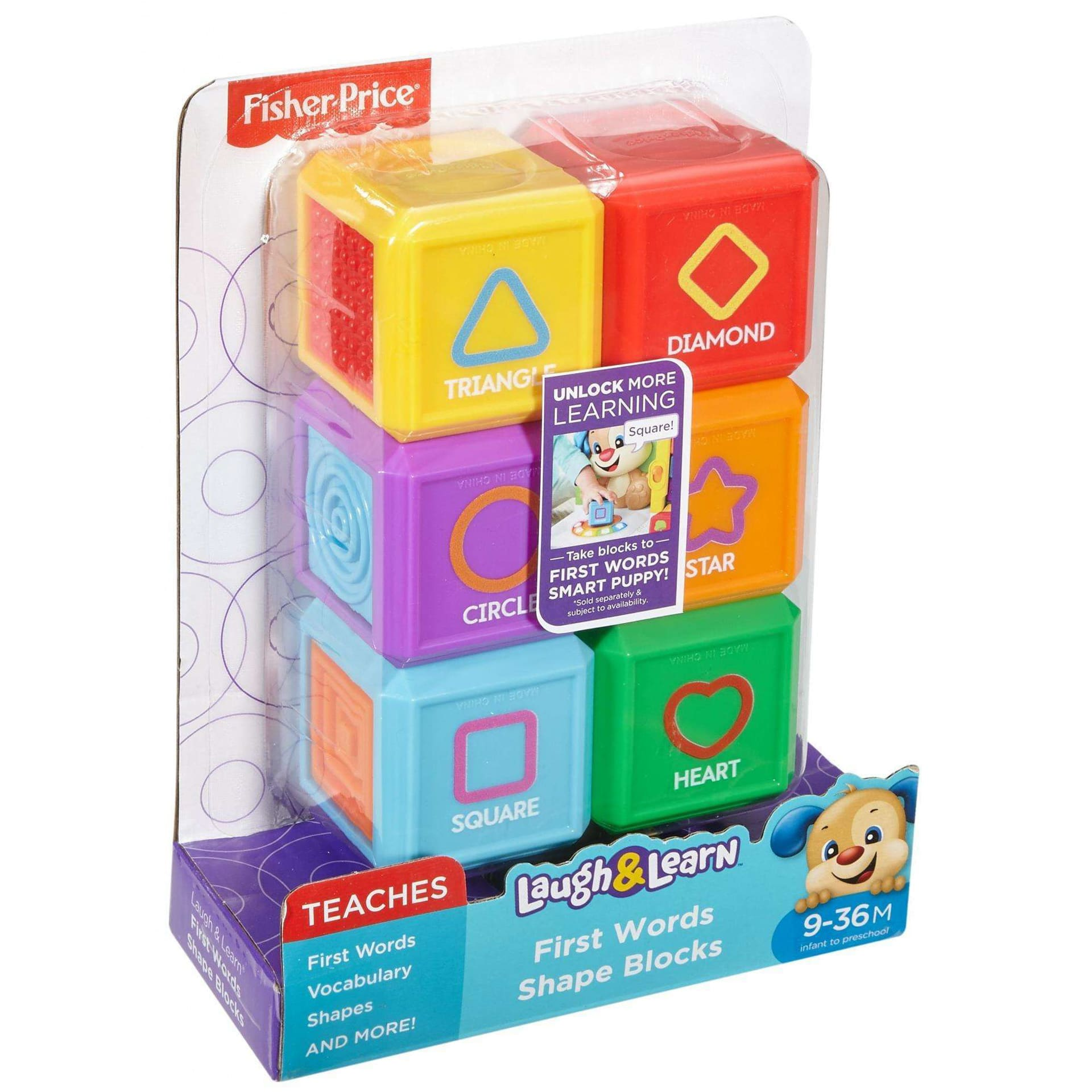 Fisher Price Laugh Learn First Words Shape Blocks Samko And Miko Baby Block