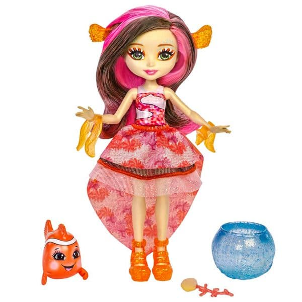 Enchantimals Clarita Clownfish Doll & Cackle Figure