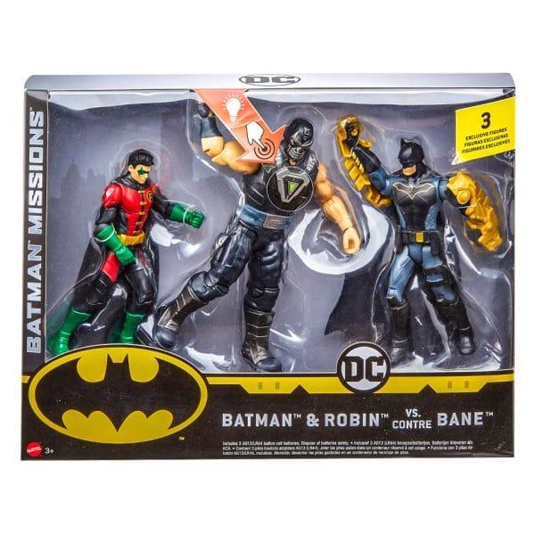 Batman Missions Batman & Robin Vs. Bane Figures 3 Pack