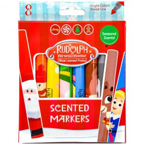 Rudolph Scented Line Markers 8 Pack