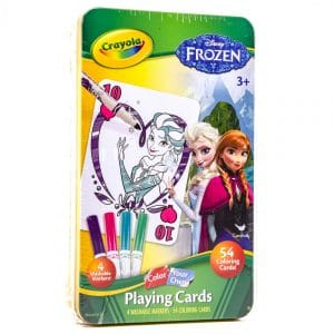 Crayola Disney Frozen Color Your Own Playing Cards Set