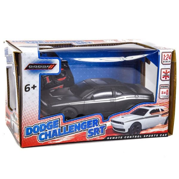 Dodge Challenger SRT Remote Control RC Car 1:24 Scale BLACK