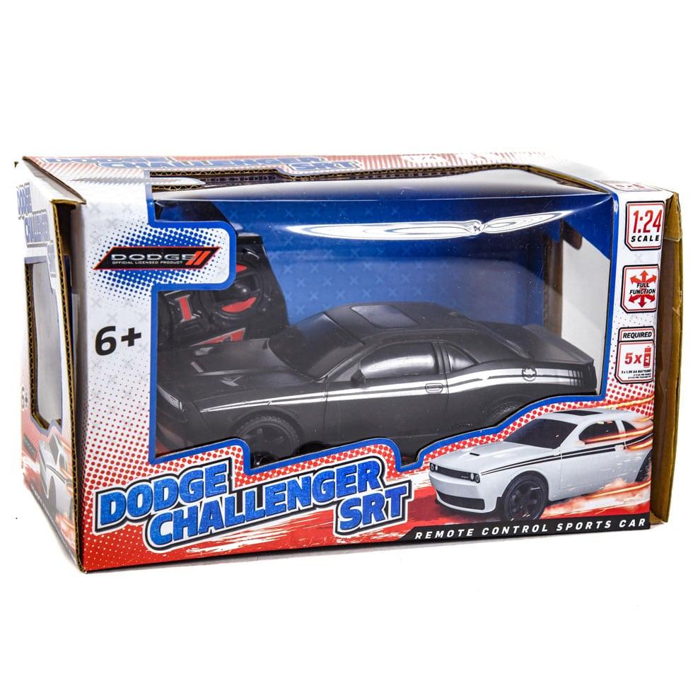 Dodge Challenger Srt Remote Control Rc Car 1 24 Scale Black Samko