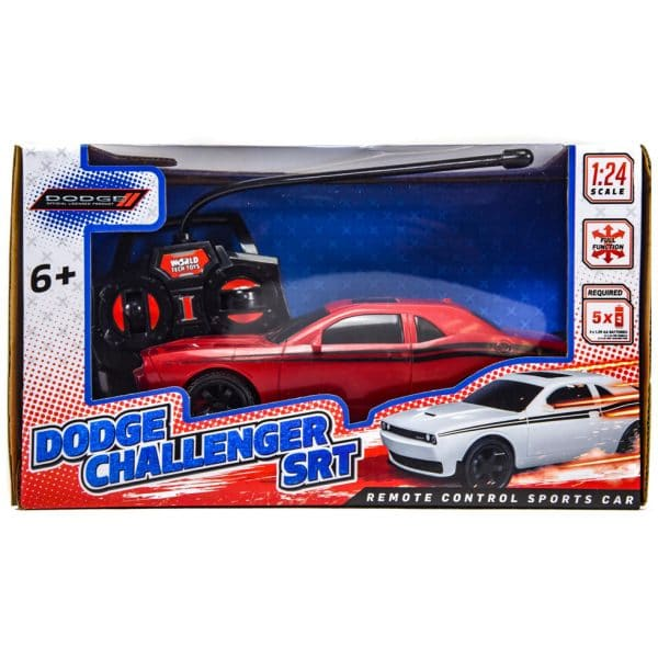Dodge Challenger SRT Remote Control RC Car 1:24 Scale RED
