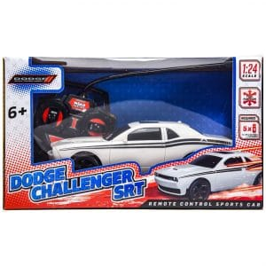 Dodge Challenger SRT Remote Control RC Car 1:24 Scale WHITE