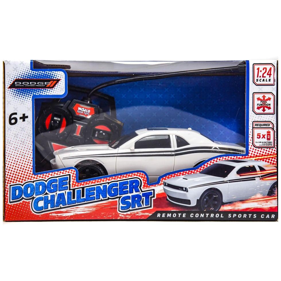 Dodge Challenger Srt Remote Control Rc Car 1 24 Scale White Samko