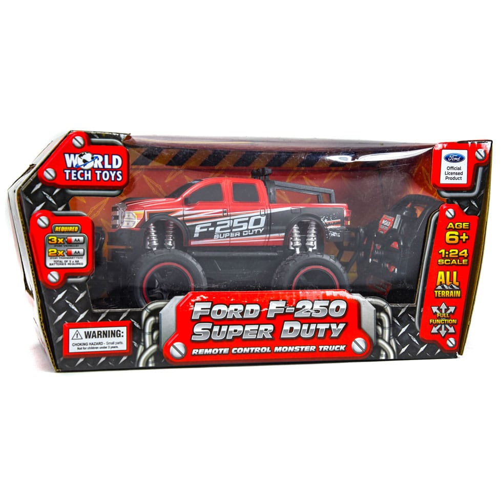 World Tech Ford F-250 Super Duty RC Truck Vehicle 1:24 Scale RED