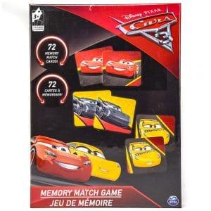 Cardinal Games Disney Pixar Cars 3 Memory Match Game Black
