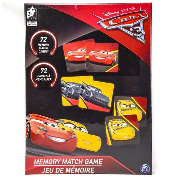Cardinal Games Disney Pixar Cars 3 Memory Match Game Black