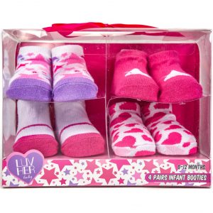 Luv Her Baby 4 Pairs Infant Booties
