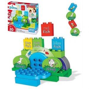 Mega Bloks Dr. Seuss One Fish Two Fish Pond Building Set