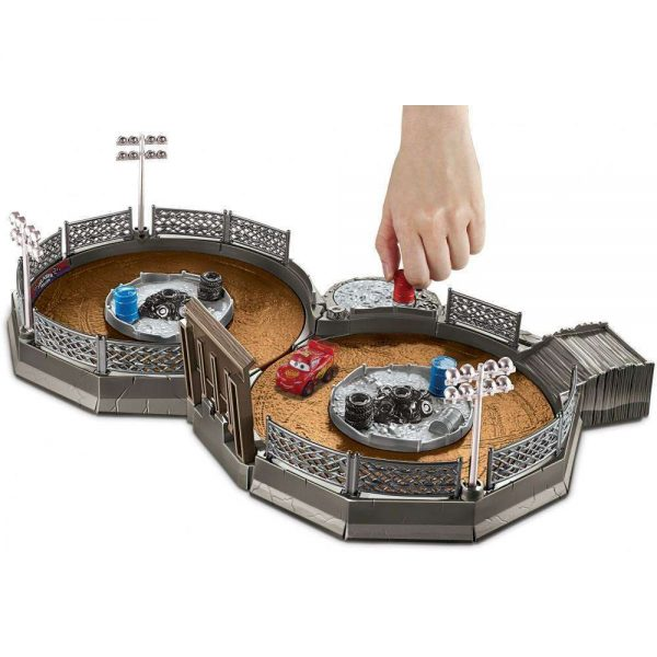 Disney Cards Mini Racers - Crank and Clash Derby Playset