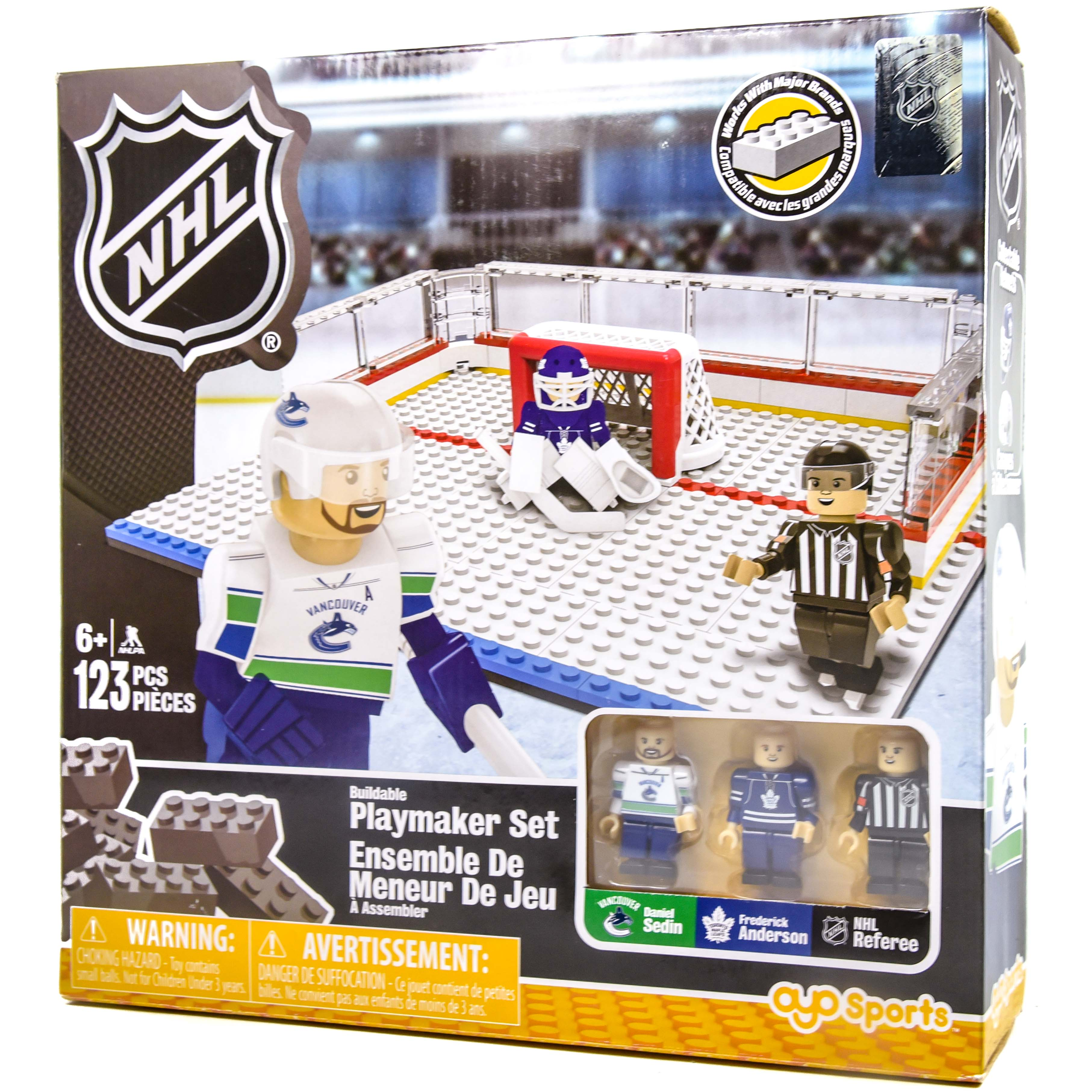 factory price 66efa 16f26 NHL Buildable Playmaker Set Daniel Sedin and Frederick Anderson