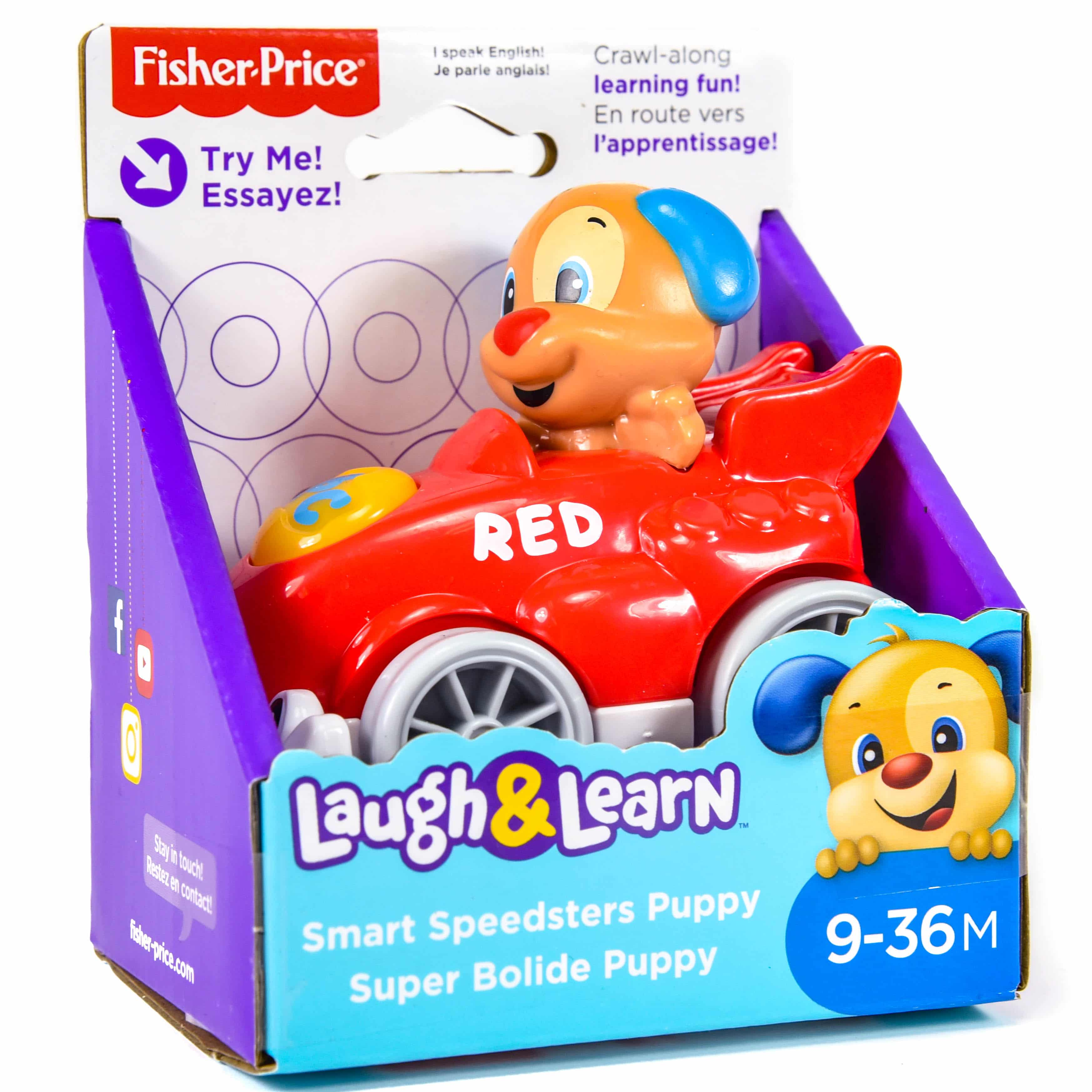 Fisher Price Laugh & Learn Puppy Learning Car Toy  |Fisher Price Laugh And Learn Cars