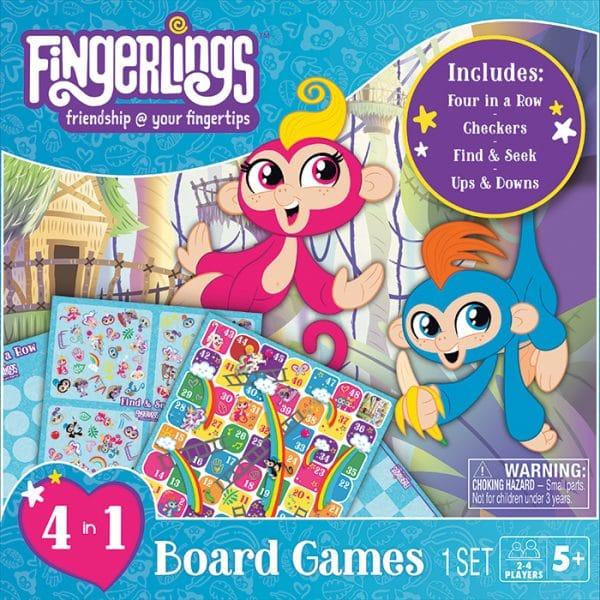 Fingerlings 4in1 Board Games