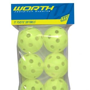"Worth Fastpitch Experts 11"" Plastic Softballs"