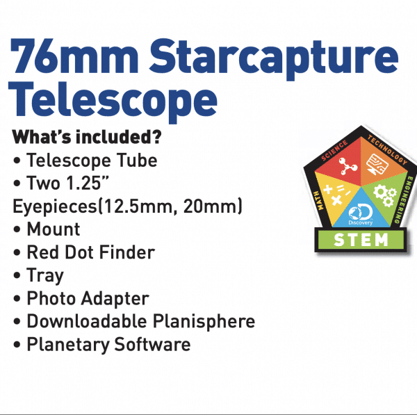 76mm Starcapture Kids Telescope