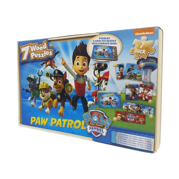 Paw Patrol 7 Wood Puzzles