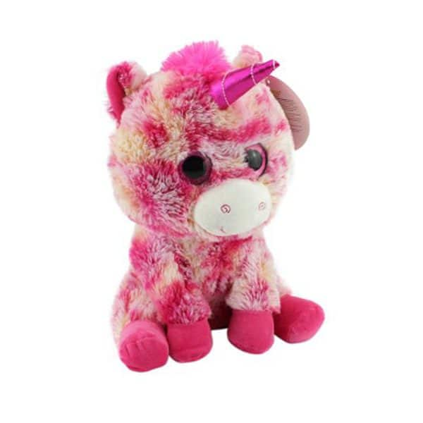 Looky Boo's Bright Eye Unicorn Plush Pink 14""
