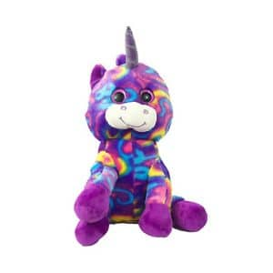 Looky Boo's Bright Eye Unicorn Plush Purple 14""