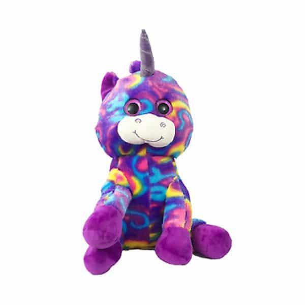 "Looky Boo's Bright Eye Unicorn Plush Purple 14"""