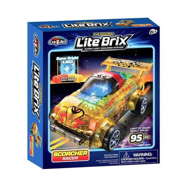 Lite Brix Scorcher Racer 95 Piece Building Set