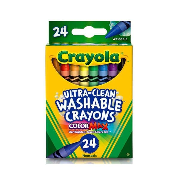 Crayola Ultra Clean Washable Crayons 24 Pack