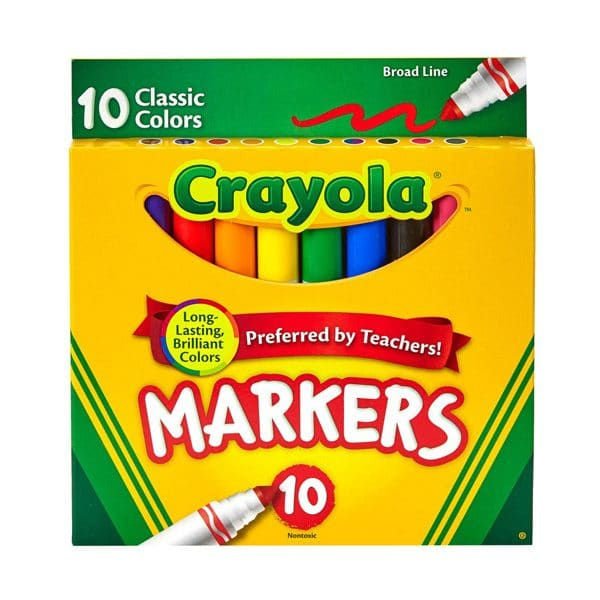 Crayola Broad Line Classic Color Markers 10 Pack