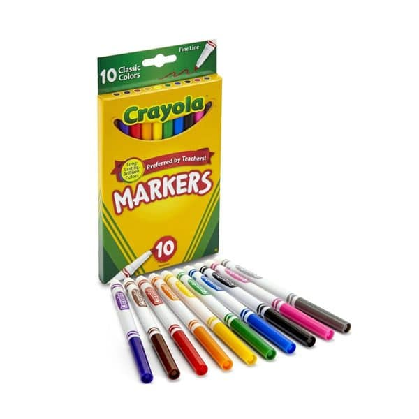 Crayola Fine Line Classic Color Markers 10 Pack